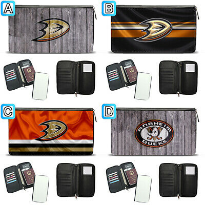 Anaheim Ducks Travel Wallet Passport Holder Organizer Leather Case