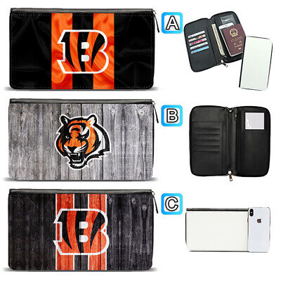 Cincinnati Bengals Travel Wallet Passport Holder Organizer Leather Case