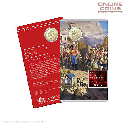 2019 RAM $1 Uncirculated Coin In Card - Mutiny and Rebellion - The Rum Rebellion