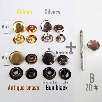 Metal 201 Snap Button Press Stud Leather Bag Clothes Popper Fastener Fixing Tool