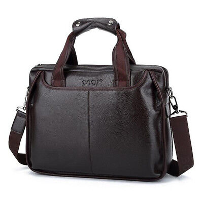 New Men Business Leather Handbag Briefcase Shoulder Messenger Bag Laptop Satchel