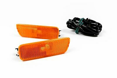 VW Bora Orange US Spec Side Marker Running Lights Set Pair With Wiring Loom