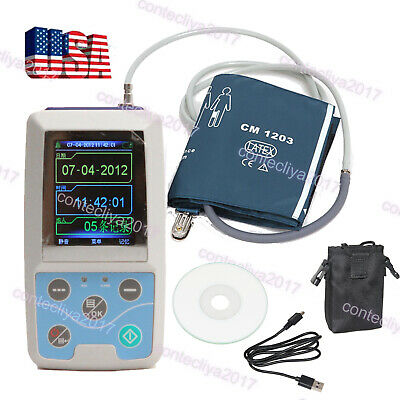 US Seller FDA 24h Ambulatory Blood Pressure Monitor USB PC SOTWARE,CONTEC ABPM50