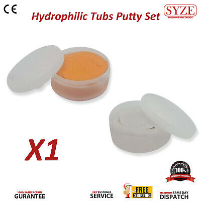 Teeth Impression Silicone Putty Dental Material Hydrophillic Firmer Pots 2 Pcs