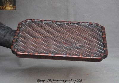 Old Chinese Palace Rosewood Wood Hand-Carved tray Pallets Dish plate Trays