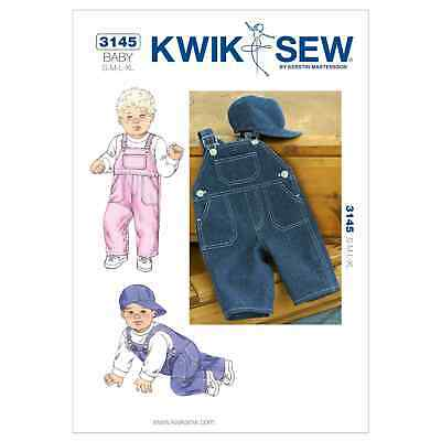 Kwik Sew Toddlers Sewing Pattern 3948 Girls /& Boys Dungarees Overalls Kw...