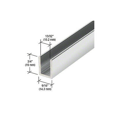 Shower U-Channel for 10mm Glass 2.41m Length ( Seven Finishes)