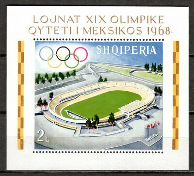 Albania - 1968 Olympic games Mexico - Mi. Bl. 33A MNH