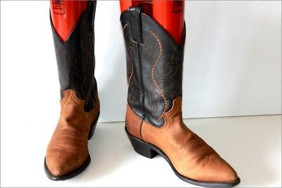 Justin Vintage Boots all Leather Two Tone T 8.5 B UK / T 41 Be