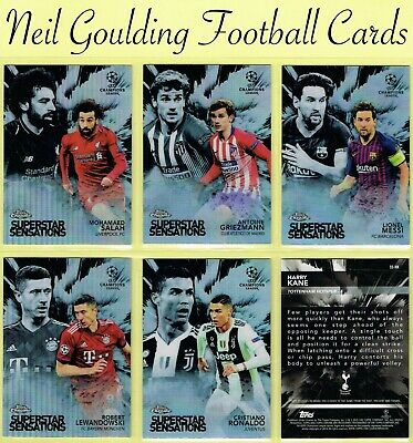 Champions League CHROME 2018-2019 ☆ SUPERSTAR SENSATIONS ☆ Football Insert Cards