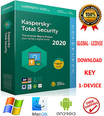 Kaspersky TOTAL Security 2020  1PC /1 Device /1 Year / WORLDWIDE - LICENSE 7.55$