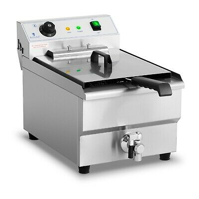 Commercial Electric Deep Fat Fryer With Drain Tap And Cold Zone 400V 16L 6000W