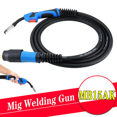 MB15AK x 4 Metre Mig Welding Euro Fitting Connector Torch Gun Gas Conversion Kit