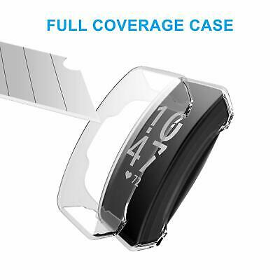 For Fitbit Inspire HR Silicone TPU Clear Shell Case Screen Protector Frame Cover