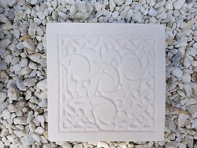 Celtic Wicca Pagan Square Rubber Latex Mould Mold Wall Decor Plaque Plaster New
