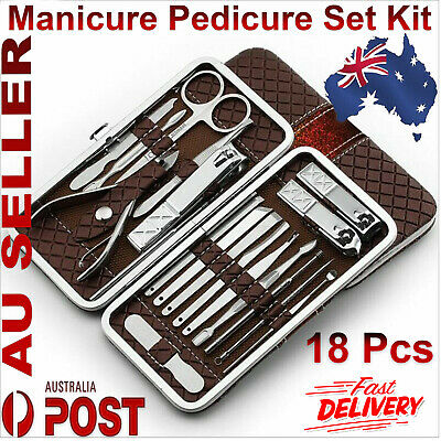 18pcs Manicure Set kit Pedicure Stainless steel Nail Care Tool Sets Grooming Set