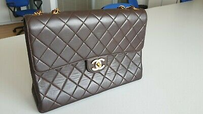 88d608d0a857 Vintage Chanel Classic Jumbo XL, quilted lambskin, single flap shoulder bag