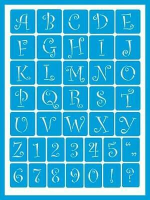 Deco Art AMERICANA GLOSS ENAMELS Re-usable STENCIL Curly Alphabet AGS203