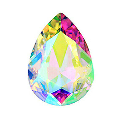 10pcs Wholesale Faceted Teardrop glass crystal Charm Loose Spacer beads gfd AXL