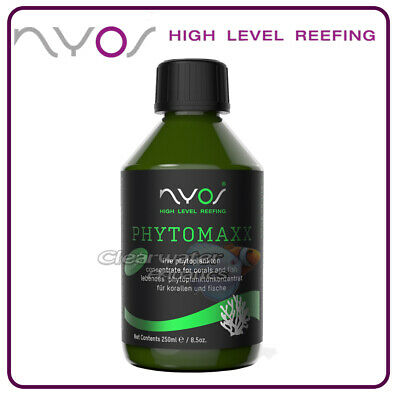 NYOS PhytoMaxx 250ml Live PLANKTON Coral Food Aquarium Fish Reef Marine Phyto