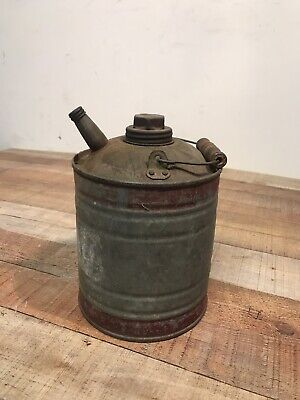 Vintage JBL Ware Gas Oil Can w/ Cap ~ FARMHOUSE STYLE