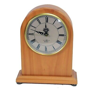 Vintage The Bombay Company Quartz Light Oak Mantle Clock Japan Movement 1993