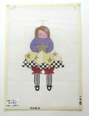 Mile High Princess Little Girl with Easter Bunny Handpainted Needlepoint Canvas
