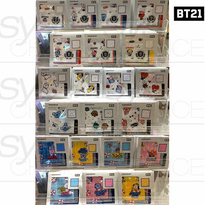 BTS BT21 Official Authentic Goods Handkerchief 420x420mm 16.5x16.5in 3Ver