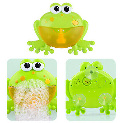 Music Bath Bubble Maker Machine Crab Frog Automatic Toy Baby Kids Gift Toys