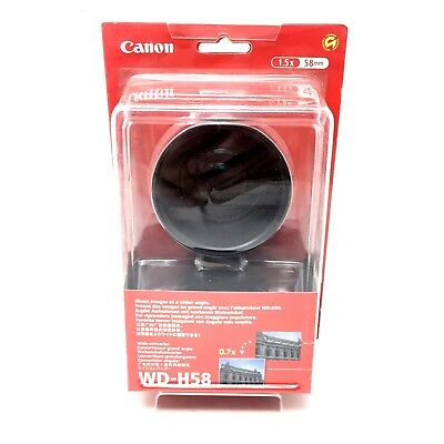 Canon WD-H58 58mm 1.5x 0.7x Wide Converter Camera Lens Magnification D1A