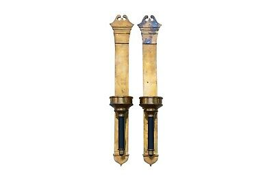 Large French Empire Style Brass Wall Sconces, a Pair