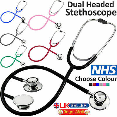 Dual Head Stethoscope Pro Medical EMT For Doctor Nurse Vet Student Health Care