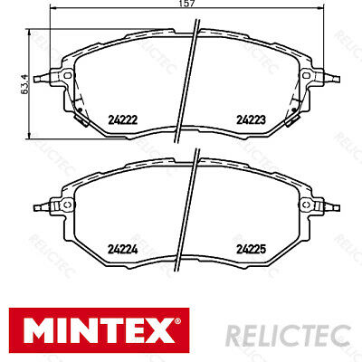 Fits Subaru Forester SG 2.5 XT Genuine OE Textar Rear Disc Brake Pads Set