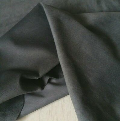 Steel Grey PIG SUEDE SKIN Hides Leather Craft Garment Trimming Soft 15 sqft