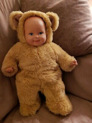 No Box! Anne Geddes Punctual Vintage New With Tags Baby Bear Bean Filled Doll