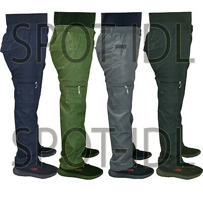 Mens New Elasticated Cargo Combat Work lightweight Cotton Trousers Pants Bottoms