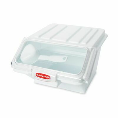 Rubbermaid FG9G6000 White 40 Cup Storage Bin with Scoop