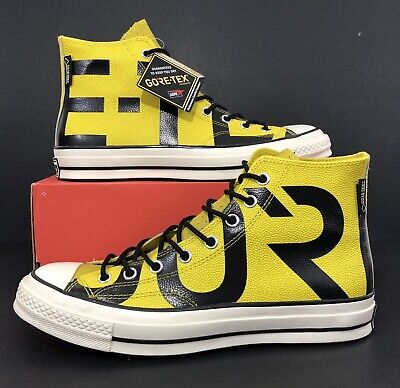 Converse Chuck 70 HI GORE TEX Bold Citron Black Fashion Sneakers 163226C Size 10