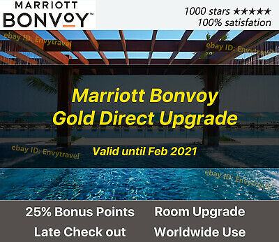 Marriott Bonvoy Gold Elite Status Valid for 2+ Years! Highest Rating Seller