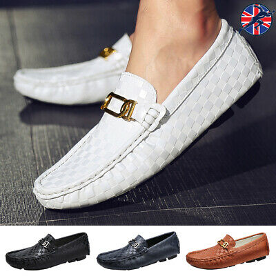 Mens Smart Casual Loafers Leisure Flats Driving Shoes Deck Slip On Lightweight
