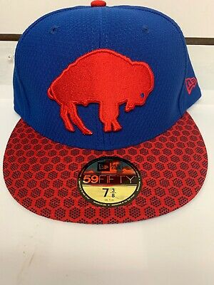 save off a1690 2515f NFL New Era 59Fifty Sideline Buffalo Bills Fitted Hat Size 7 3 8 Cap