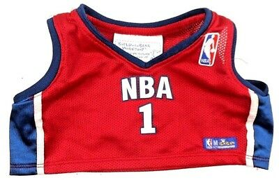 Build Bear Clothes Authentic NBA Top # 1 Red/White/Blue