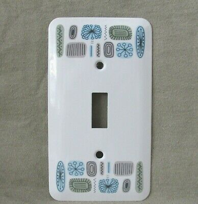 Mid Century Modern - Metal Light Switch Cover - Temporama Style Pattern -New- Sm