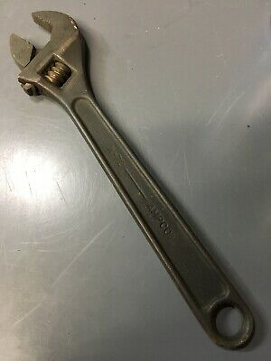 "W-72 AMPCO Safety Non-Sparking Bronze Alloy Crescent Adjustable Wrench 10"" BeCo"