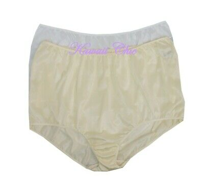 8151cd48d5a6 Fundamentals White & Ivory 2-Pack Nylon Brief Panties Women's Plus Size ...