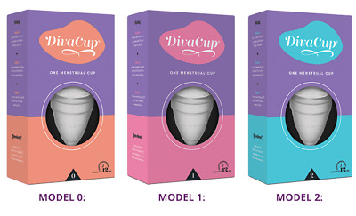 Diva Cup Soft Silicone Menstrual Cup Period Reusable Leak Free Model 0, 1, 2