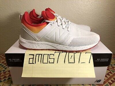 bb2069cb30e69 New Balance X Stance 247 All Day White Red Orange MRL247CO Men Size SZ 8
