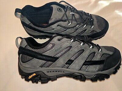 f6d0b249c01 MERRELL MOAB 2 Mid WP Mens Size 10.5 Granite HIKING Boots Athletic ...