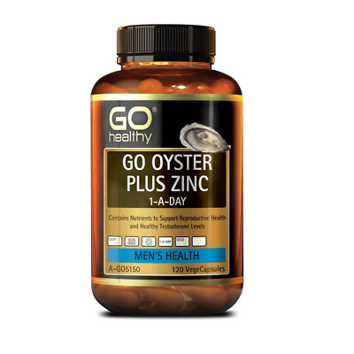 Go Healthy Oyster Plus Zinc 120 Capsules Healthy Testosterone Level