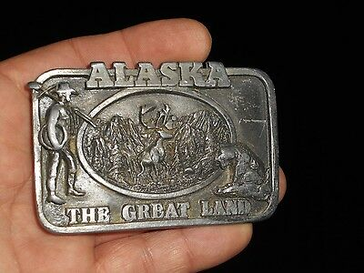 SISKIYOU Belt Buckle ALASKA THE GREAT LAND SOLID PEWTER For Repair Not Working